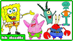 sponge characters kids coloring europe travel guides com