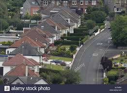 British Houses Row Of Houses Street Row Of British Suburban Houses And Bungalows