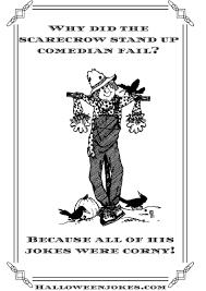 black and white halloween joke cartoon scarecrow cpal