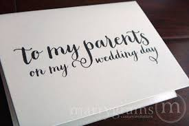 parents gift wedding wedding card to your or parents of the gifts