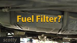 where is your fuel filter hiding youtube