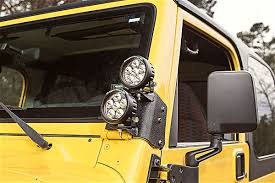 best road lights for jeep wrangler halogen hid or led which light is right for your 4x4