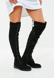 s thigh boots uk s boots faux leather and suede boots missguided