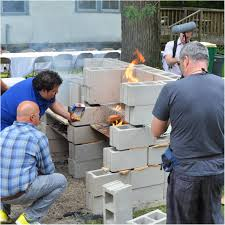 backyards ergonomic building the grill from cinder blocks 51
