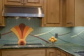 Custom Kitchen Backsplash Hand Made Art Deco Kitchen Backsplash By Lynn Adamo Fine Art