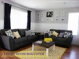 black and gray living room living room decorating with yellow and grey google search