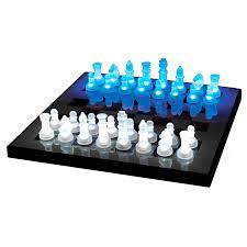 amazon com lumisource sup ledches bw led lightened glow chess set