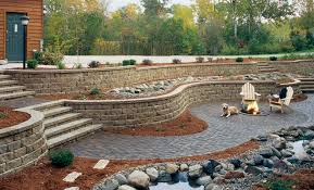 Patio Retaining Wall Ideas Anchor Highland Stone Retaining Wall 6 U2033 Combo