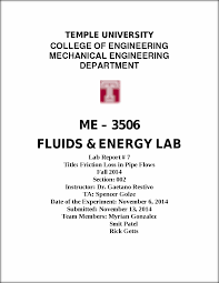 lab 7 friction loss in pipe flows temple university college of