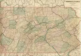 Pennsylvania Map With Cities And Towns by 1880 U0027s Pennsylvania Maps