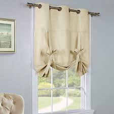 Tie Up Curtain Shade Thermalogic Solid Grommet Top Insulated Thermal Tie Up Shade