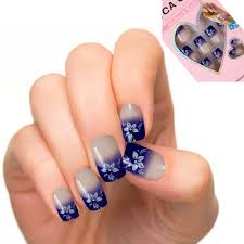 online buy wholesale blue french nail tips from china blue french