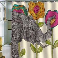 Colored Shower Curtain 5 Colorful Modern Shower Curtains From Deny Designs Retro Renovation