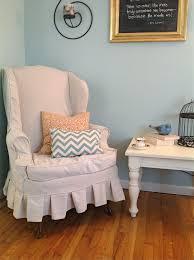 wing chair slipcover wing chair slipcover shades of blue interiors
