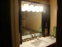 Bathroom Mirror With Lights Built In Mirror Design Ideas Supreme Located Bathroom Mirror With Lights