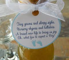 baby shower 2 favor tags with poem for baby boys for