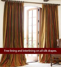 Striped Silk Fabric For Curtains Striped Silk Drapes Drapestyle