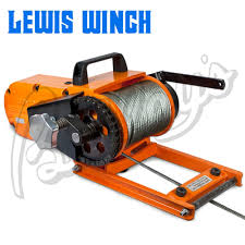 lewis winch portable chainsaw winch model 400 mk2 winches