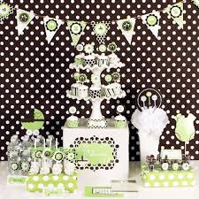 mod baby shower green baby shower mod party kit decorations baby shower