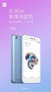 Redmi 5a Xiaomi Redmi 5a Gets Lake Blue Color Variant Costs 599 Yuan