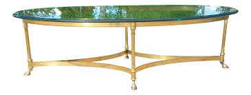 labarge hollywood regency brass coffee table chairish