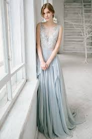 wedding dress etsy silver grey wedding dress silk and lace bridal gown open