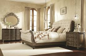 Sleigh Bed Pictures by Queen Sleigh Bed With Linen Tufted Headboard And Footboard By