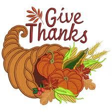 thanks thanksgiving cornucopia filled machine embroidery design