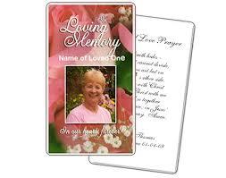 funeral prayer cards memorial prayer cards laminated with 5 mil memorialcard 2 49