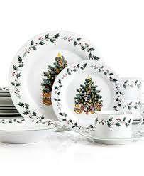 gibson tree trimmings 20 dinnerware set service for 4