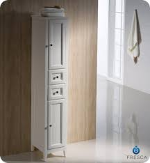 Fresca Oxford FSTAW Tall Linen Side Cabinet Antique - Antique white bathroom linen cabinets