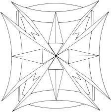 cool geometric design coloring pages getcoloringpages