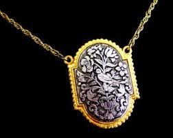 locket pendant necklace images Vintage lockets etsy jpg