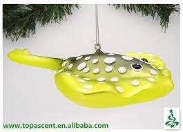 2014 swinging blown glass fish ornament lobster