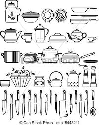Kitchen Utensils And Tools by Vector Clip Art Of Kitchen Tools And Utensils Vector Illustration