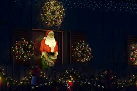 santa claus display lights photo information
