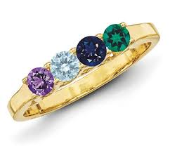 mothers ring 14k gold 2 to 6 stones s ring