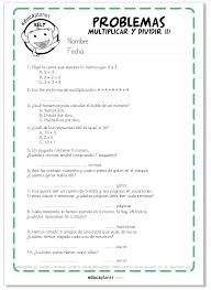 problemas razonados para cuarto grado problemas de multiplicaciones y dividisiones ejercicios niños 2 de