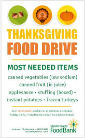 thanksgiving drive screenshot chester county food bank