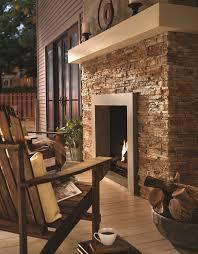 ply gem stone true stack in flint fireplace