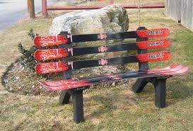 ski chair snow board recycled plastic garden bench u0026 reviews wayfair