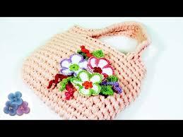 Crochet Designs Flowers How To Crochet A Bag With Flowers Crochet Patterns Diy Purse