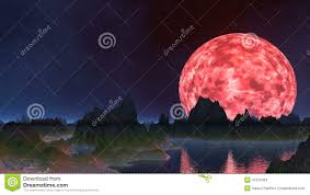 the pink moon is reflected in water stock footage video 41016304