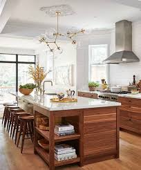 kitchen white countertops with brown wood