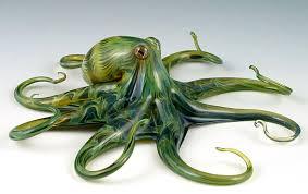 rippleback glass octopus sculpture by bisson quantum