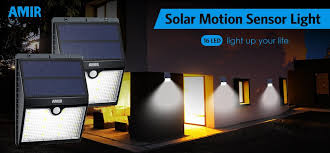 bright light solar amir solar lights outdoor 16 led motion sensor wall light