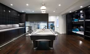 interior nice game room basement remodel with pool table tennis