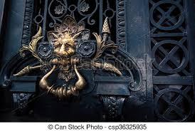 lion door knocker lion door knocker a lion door knocker made of brass stock