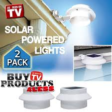 Indoor Solar Lights by 2 Pack Deal Outdoor Solar Gutter Led Light White Sun Power Smart