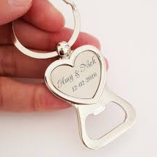 wedding favors bottle opener 50x free engraved personalised wedding favour heart keyring